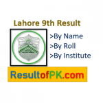 BISE Lahore 9th Class Result 2021