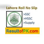 BISE Lahore Roll Number Slip 2021