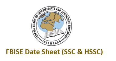 FBISE Date Sheet 2021 [New & Revised Dates For SSC & HSSC ]