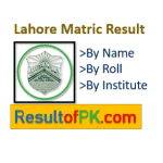 BISE Lahore Board Matric (10th) Class Result 2020