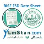 BISE FSD Date Sheet 2021