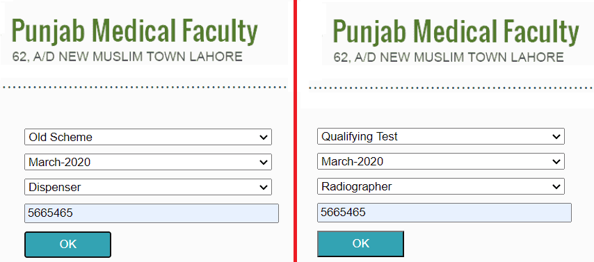 PMF Lahore Result 2020 Punjab Medical Faculty Exam Results 2020