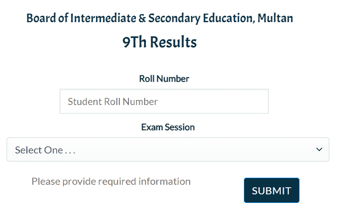How to Search Multan Board 9th Result 2021 Online?