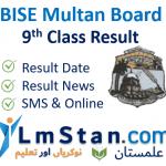 BISE Multan 9th Class Result 2021