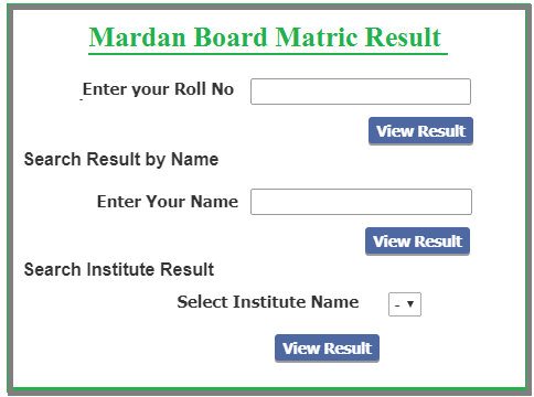 How to Check BISE Mardan Matric Result 2021?