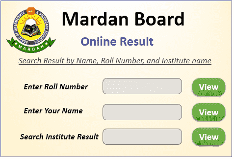 Mardan Board Result 2021 Online Search By Name & Roll Number