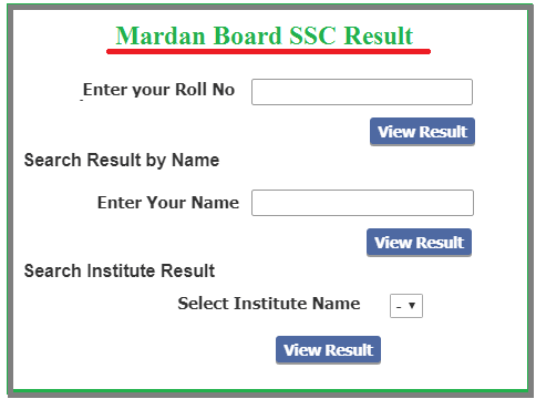 How to check Mardan Board 9th Class Result?